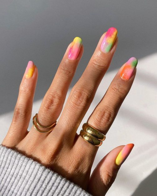 Ongles pastel