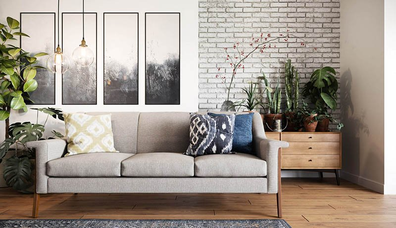 Salon moderne aéré et lumineux