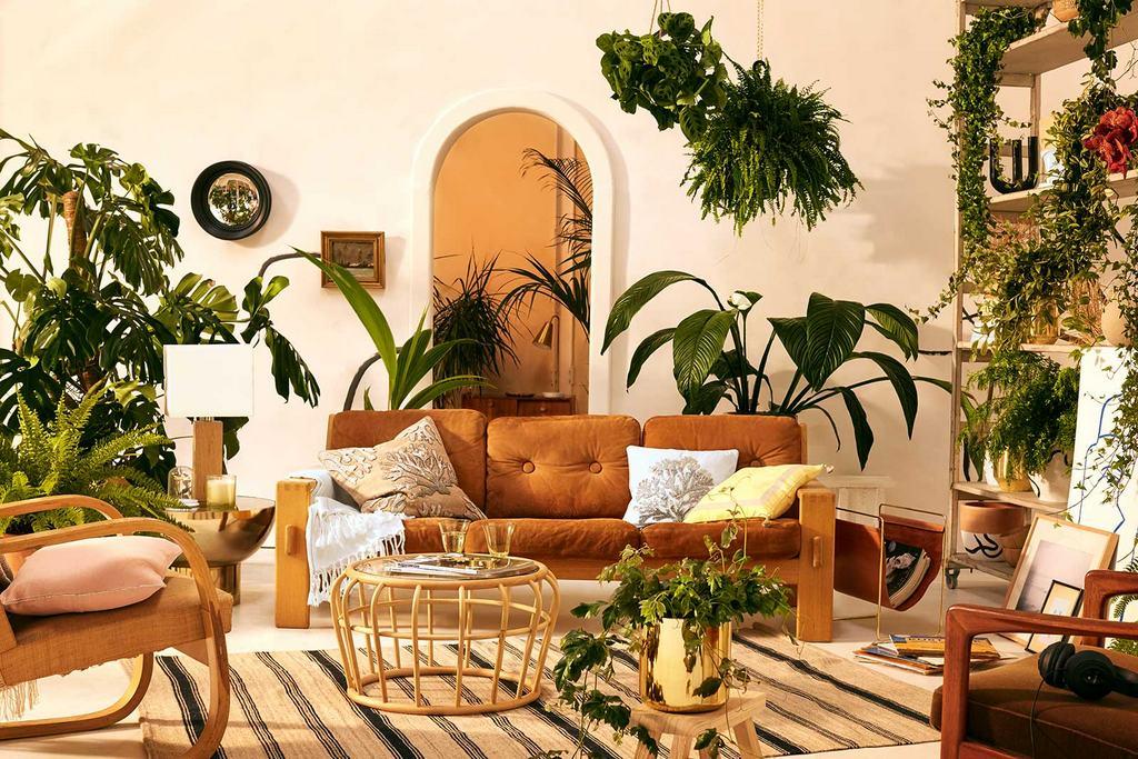 Salon moderne d'inspiration bohème